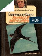 Cuadernos de Campo 15 F R de La Fuente Pajaros de Medio Urbano Marin 1978