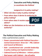 1 the Political Executive and Policy Making