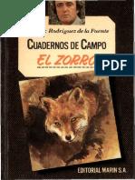 Cuadernos de Campo 11 F R de La Fuente El Zorro Marin 1978