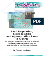 72. Expropriation and Appropriation Laws in Alberta