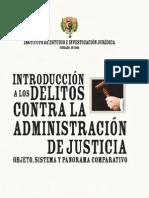 Introduccion a los delitos contra la administración de justicia - dalbora