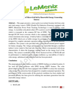 Design and Control of Micro-Grid Fed by Renewable Energy Generating Sources