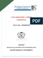 Cad Laboratory i -Spr6531 Lab Manual