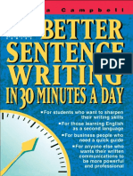Better Sentence Writing in 30 Minutes a Day-Dianna S. Campbell