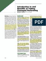 Tubing Conveyed Perforating