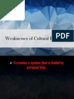 Weaknesses of Cultural Relativism