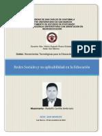 Redes Sociales y Su Aplicabilidad en La Educacion