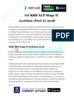 RRB ALP Syllabus Stage II Part a 2018