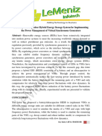 A Battery Ultracapacitor Hybrid Energy Storage System for Implementing the Power Management of Virtual Synchronous Generators