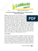 A Novel Step-Up Single Source Multilevel Inverter Topology, Operating Principle and Modulation