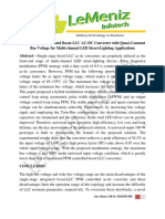 A Single-Stage Integrated Boost-LLC AC-DC Converter With Quasi-Constant Bus Voltage for Multi-channel LED Street-Lighting Applications