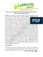 Quasi-Z-Source Indirect Matrix Converter Fed Induction Motor Drive for Flow Control of Dye in Paper Mill