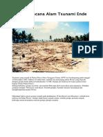 Kliping Bencana Alam Tsunami Ende