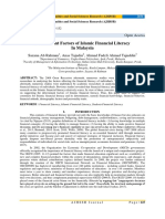 Determinant Factors of Islamic Financial Literacy In Malaysia