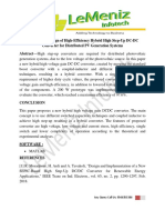 Analysis and Design of High-Efficiency Hybrid High Step-Up DC-DC Converter for Distributed PV Generation Systems
