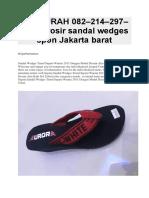 TERMURAH 082–214–297–187 | grosir sandal wedges spon jakarta barat