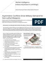 Asymmetric Conflicts Drive Military Demand for Non-Lethal Weapons _ Homeland Security Market Intelligence