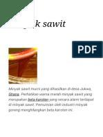 Minyak Sawit - Wikipedia Bahasa Indonesia, Ensiklopedia Bebas
