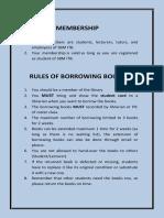 Memberships & Rules of Borrowing Books (2018)