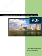 Fawad Hussain, Feedback on Industrial Visit to Sahiwal Coal Power Plant