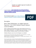 Basic College Mathematics an Applied Approach Canadian 1st Edition Aufmann Solutions Manual