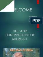 Life and Contributions of Salim Ali