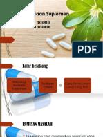 PPT Teknologi Sediaan Suplemen