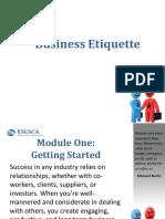 PowerPoint Slides Business Etiquette