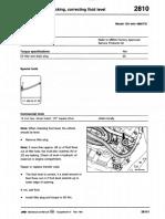 2810 - Transfer Case, Checking & Correcting Fluid Level