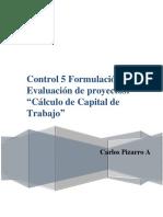 Tarea 4 Formulación y Evaluacion de Proyectos.