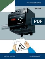 Grundfos MP 204 Instructions