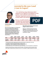 Lagos Land Use Charge Controversy 2018
