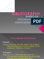 Bibliography Apa Style