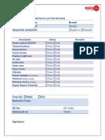 Qc Checklist
