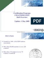 Isaca Cisacism Dod Presentation 5-1-09