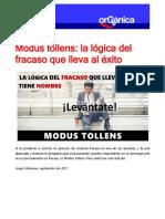 MODUS TOLLENS Logica Del Fracaso Al Exito