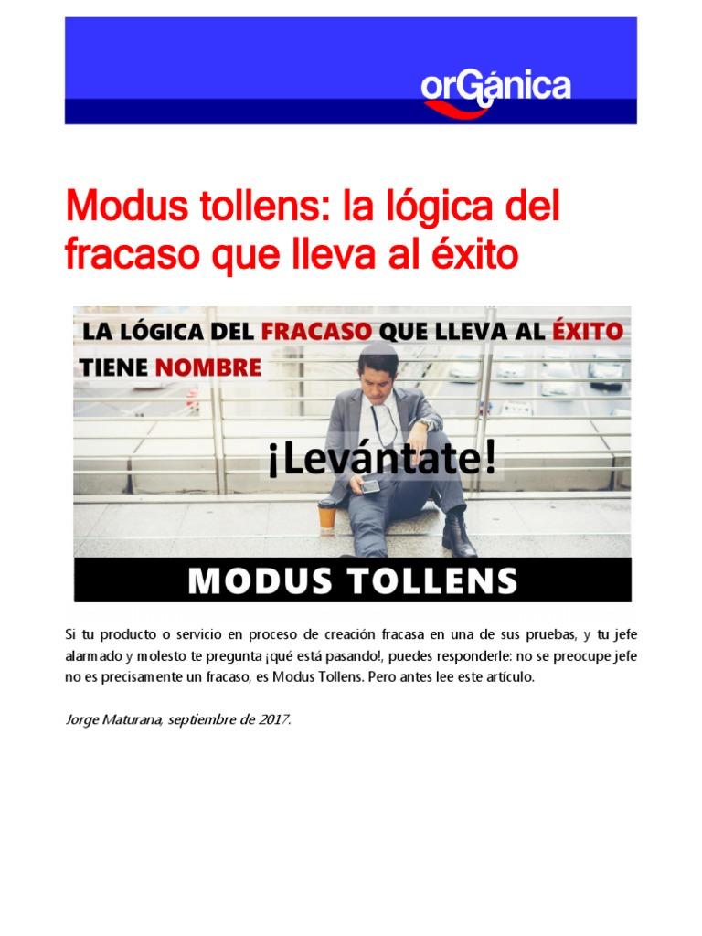 MODUS TOLLENS Logica Del Fracaso Al Exito | Razonamiento ...