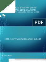 Ppt Citation and Reffrence dengan software