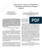 Optimal distribution power system reconfiguration using Genetics Algorithms and Branch exchange method