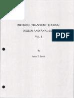 Pressure Transient Testing Vol 1