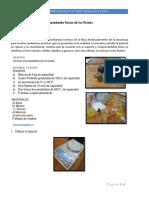 Práctica 1 Hidráulica densidad y peso especifico