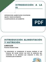 Introducción a la nutrición