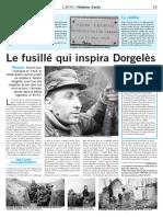 Le fusillé qui inspira Dorgelès
