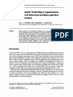 Charismatic Leadership in Organizations Perceived Behavioral Attributes and Their Measurement
