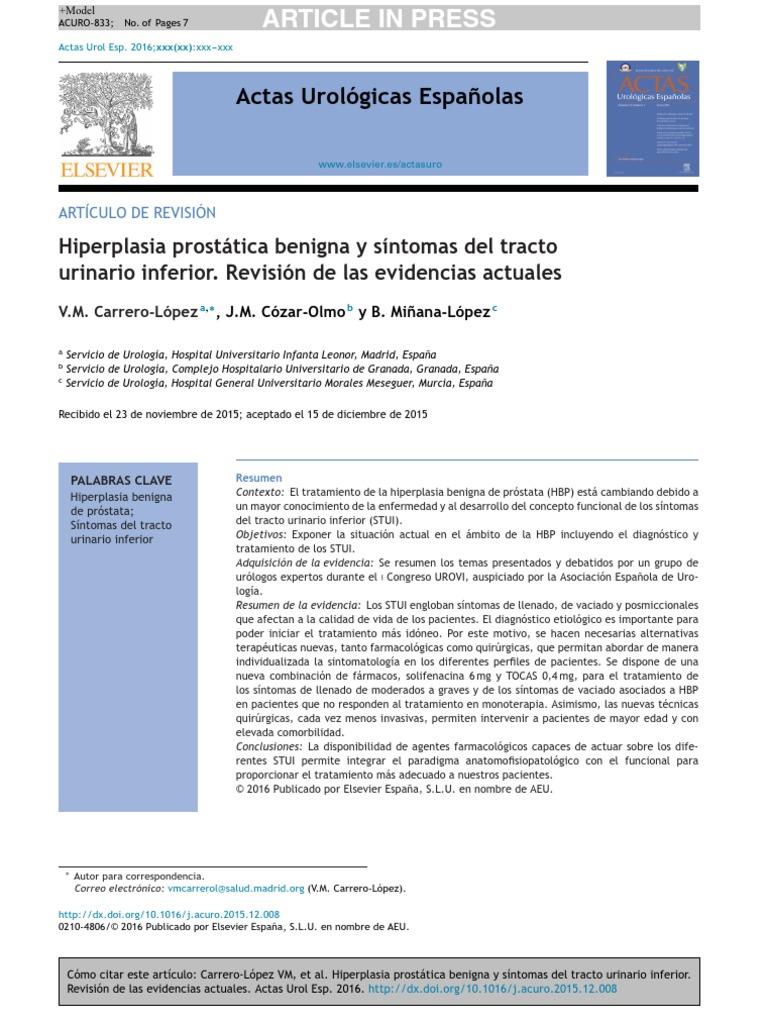 adenoma de próstata icd 10 síntomas