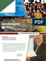 Maestria Ingnieria Geologica Perú