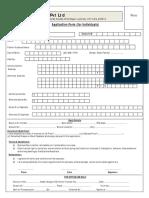 Application Form INDIVIDUALS