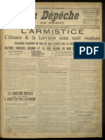 Armistice.  Relisez la Dépêche de Brest du 12 novembre 1918