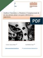 Análisis Cinemático y Dinámico Computacional de Un Mecanismo Plano Con Pares Inferiores y Superiores