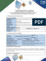 Guía de Actividades y Rúbrica de Evaluación - Tarea 4 - Desarrollar Ejercicios Unidad 3